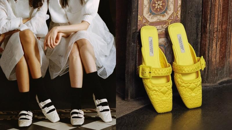 Charles&Keith携手Cecilie Bahnsen,推出4款独家联名鞋款!绣花玛莉珍鞋的复古韵味真的很