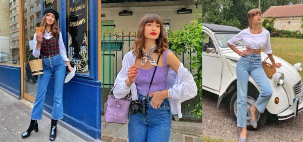 跟着法国女孩Dolorès 的日常穿搭,学习牛仔裤穿搭法