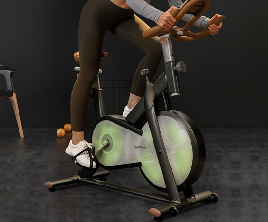莫比家用动感单车,时尚居家健身器材